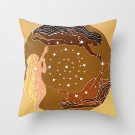 Interbeing Throw Pillow