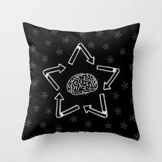 Recyclabrain Throw Pillow