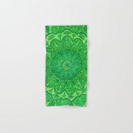 mandala of greenery Hand & Bath Towel