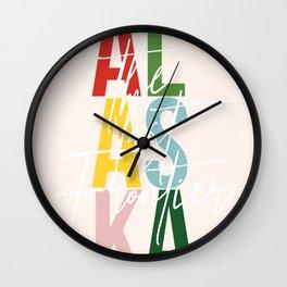 "Alaska ""The Last Frontier"" Color Wall Clock"