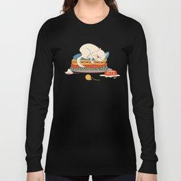 Sleeping white cat Long Sleeve T-shirt