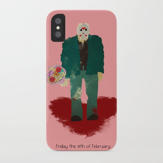 Friday the 14th of February (Monsters in Love) iPhone Case
