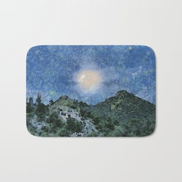 Starry Night Sunrise Bath Mat