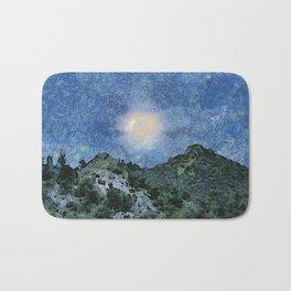 Starry Night Sunrise Bath Mat