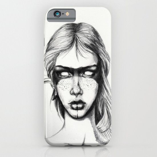 Nocturnal Warrior Sketch iPhone & iPod Case