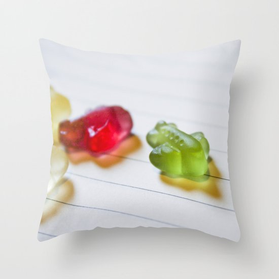Airplane jelly candies Throw Pillow