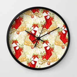 Christmas stockings Wall Clock