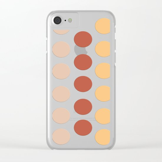 Autumn Polka Dots Clear iPhone Case