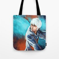 jack frost Tote Bags featuring Jack Frost by Maine