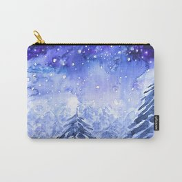 pine forest under galaxy Carry-All Pouch