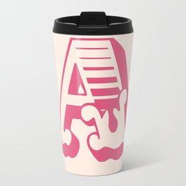The Letter A - Retro Style Font Design Travel Mug