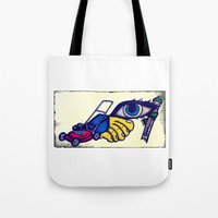 motorcycle Tote Bags featuring Motorcycle by Funniestplace