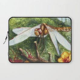 Amber Dragonfly Laptop Sleeve