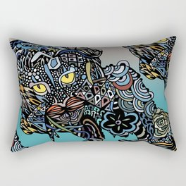 Dragon Cat (Color) Rectangular Pillow
