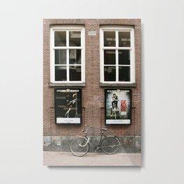 Life is like a bicycle Metal Print