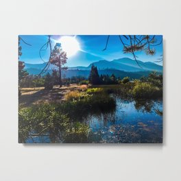 Tahoe Mountains Metal Print