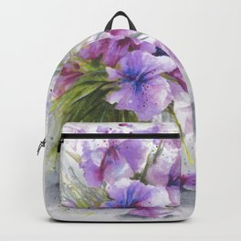 Glass Vase with Wild Flowers Backpack
