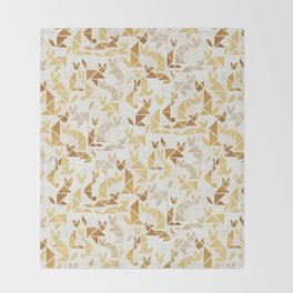 Golden Fox Throw Blanket