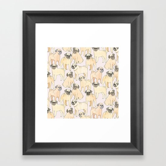 Pugs Framed Art Print