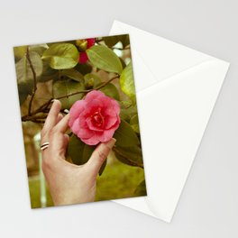 Camellia and hand Stationery Cards