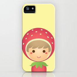 The Strawberry Boy iPhone Case