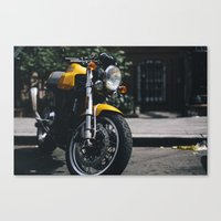 ducati Canvas Prints featuring Ducati Motorcycle by bill bill