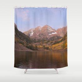 Sunrise at Maroon Bells Shower Curtain