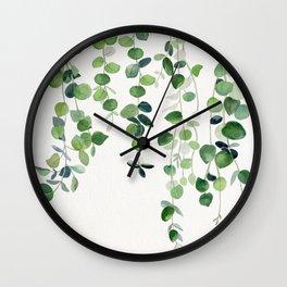 Eucalyptus Watercolor 2  Wall Clock