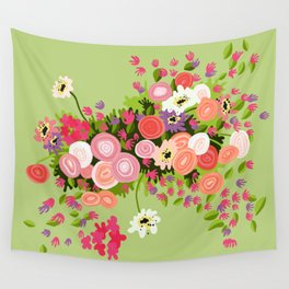 Flowerpower Wall Tapestry