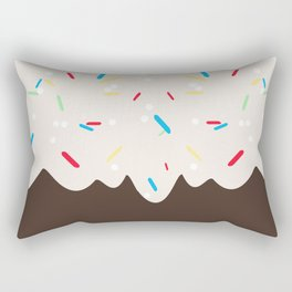 Hot chocolate with whipped cream and sprinkles Rectangular Pillow