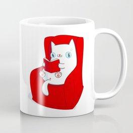 Kitty Loves Reading Coffee Mug