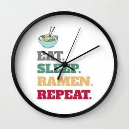Funny Ramen Noodles  Wall Clock