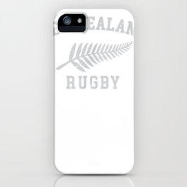 new zealand rugby tee maori rugby team nz silver fern iPhone Case
