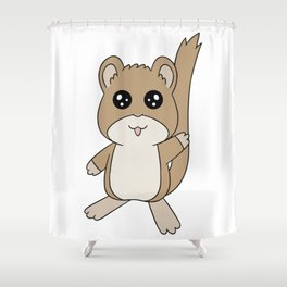 Snickerdoodle Wave Shower Curtain
