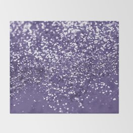 Sparkling ULTRA VIOLET Lady Glitter #1 #shiny #decor #art #society6 Throw Blanket