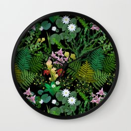 Botanical Bog Wall Clock
