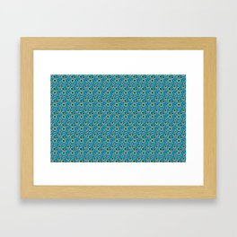 I Only Have Eyes for You (on Cyan Blue Background)  Framed Art Print