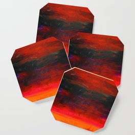 From a Nightmare II, Acrylics on Canvas Coaster