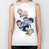 fairy tail Biker Tanks featuring Fairy Tail Chibi Couples by Minty Cocoa