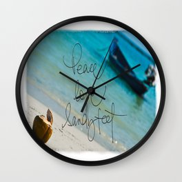 Coconut Boats Wall Clock