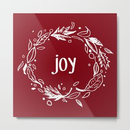 Joy in white Metal Print