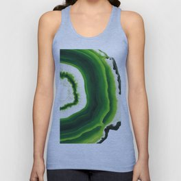 Green Agate Geode slice Unisex Tank Top