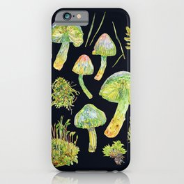Parrot Toadstool and Moss - Dark iPhone Case