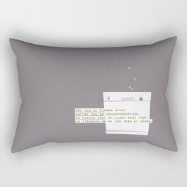 Når jeg er hjemme alene Rectangular Pillow