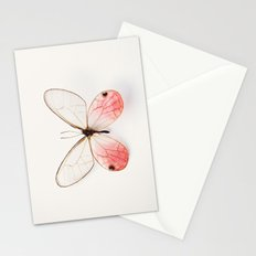 Pink Glasswing Stationery Cards