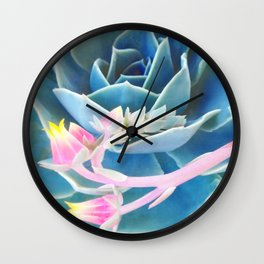 Bold Succulent Wall Clock