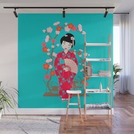 Pretty Japanese Girl Wall Mural