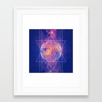 sacred geometry Framed Art Prints featuring Sacred Geometry by AC DESIGNS