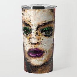From the darkness she softly whispers. Travel Mug