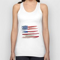 american flag Tank Tops featuring American Flag by Jenny Highsmith